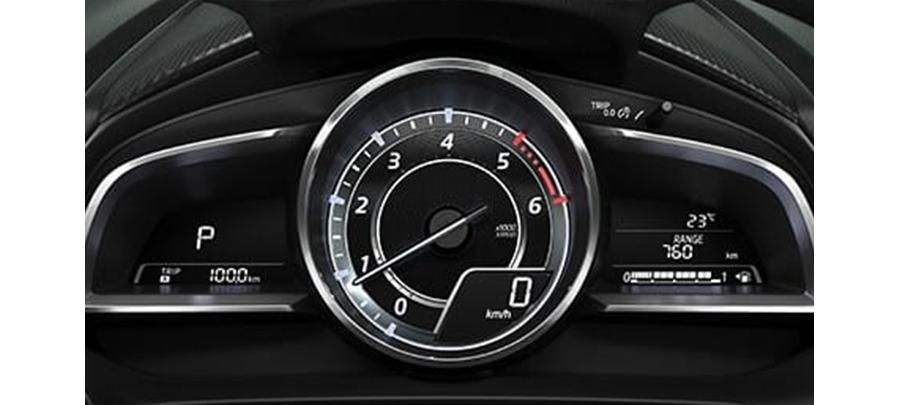 Tampilan speedometer Mazda 2 2019 carmudi indonesia