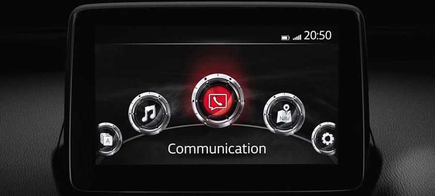 Tampilan Fitur Hiburan Mazda CX-3 2019 carmudi indonesia