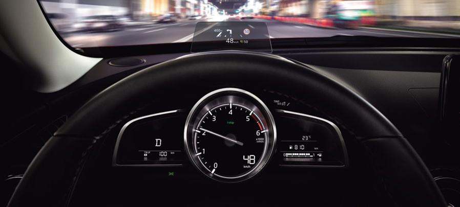 Tampilan vitur speedometer Mazda CX-3 2019 carmudi indonesia