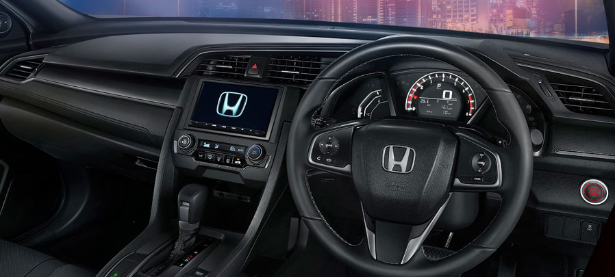 tampilan dashboard honda civic hatchback 2019 carmudi indonesia